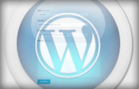 Wordpress iletişim formu oluşturma