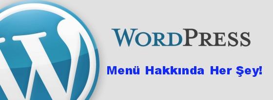 wordpress menü yapımı