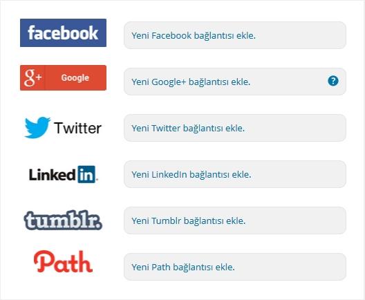 sosyal ağlarda paylaşım