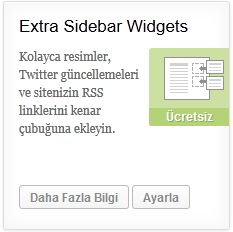 wordpress ekstra widgetler