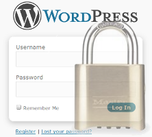 wordpress lock down wp admin