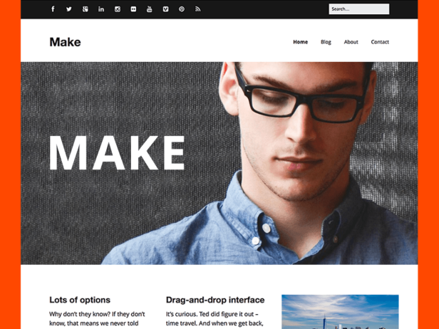 make wordpress teması