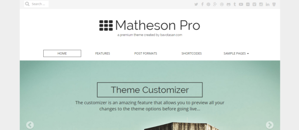 Matheson wordpress buddypress teması