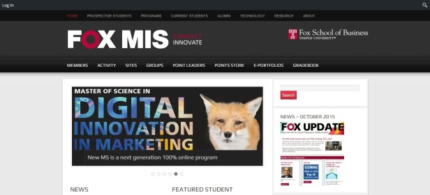 Temple Fox MIS – Ranked top 15 in the nation by U.S. News