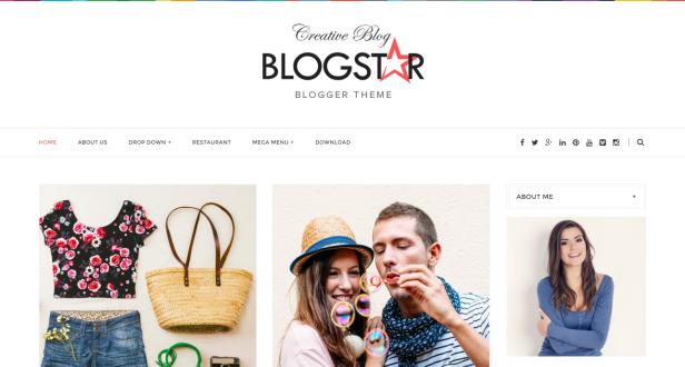 Blogstar blogger teması