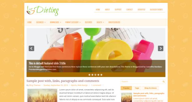 Dieting blogspot teması