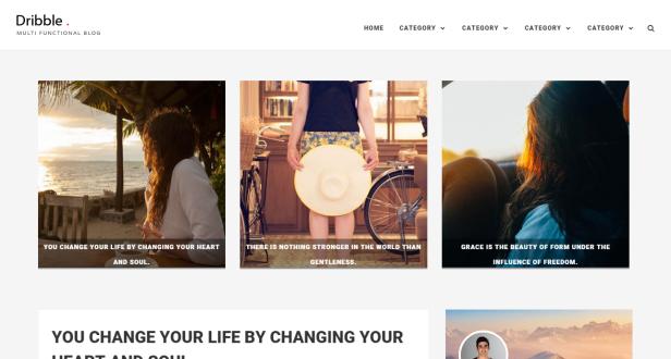 Dribble blogger teması