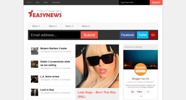Easy News blogger teması