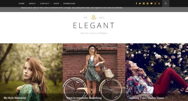 elegant blogger teması