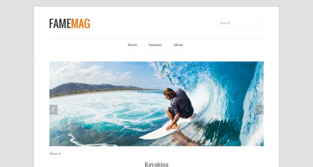 Fame mag blogger teması