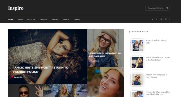 Inspiro blogger teması