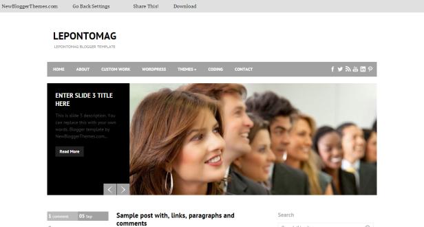 LepontoMag-Blogger-Template