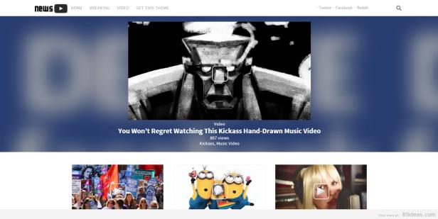 NewsTube wordpress video teması