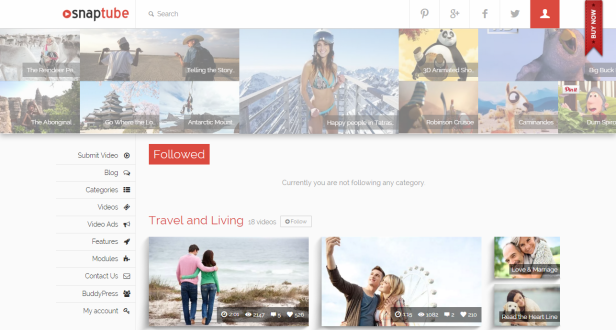 Snaptube wordpress video teması