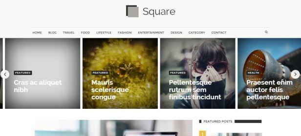 Square mag blogger teması