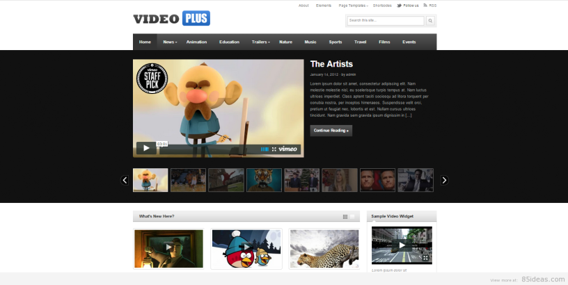 VideoPlus wordpress teması